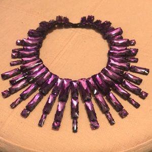 Purple Jewel Statement Necklace